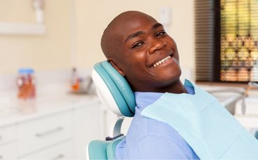 A man at his dental appointment.