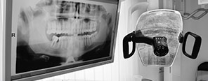 Dental x-ray and exam chair light
