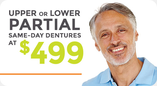 Special for same-day partial dentures
